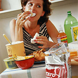 How can someone overcome binge eating and food obsession?