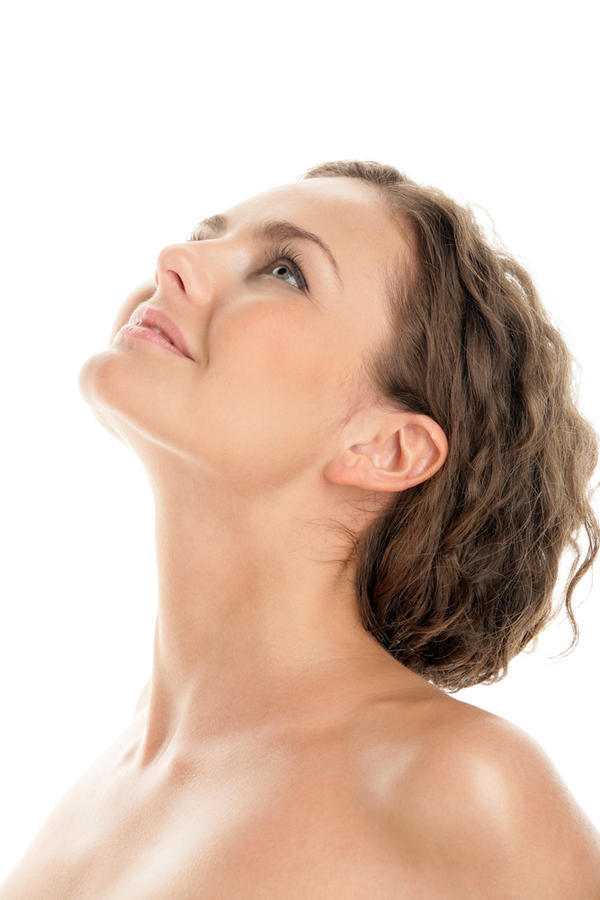 What is associated with swollen glands in the neck and throat?