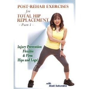 Which kind of exercise can a person do who had a hip replacement?