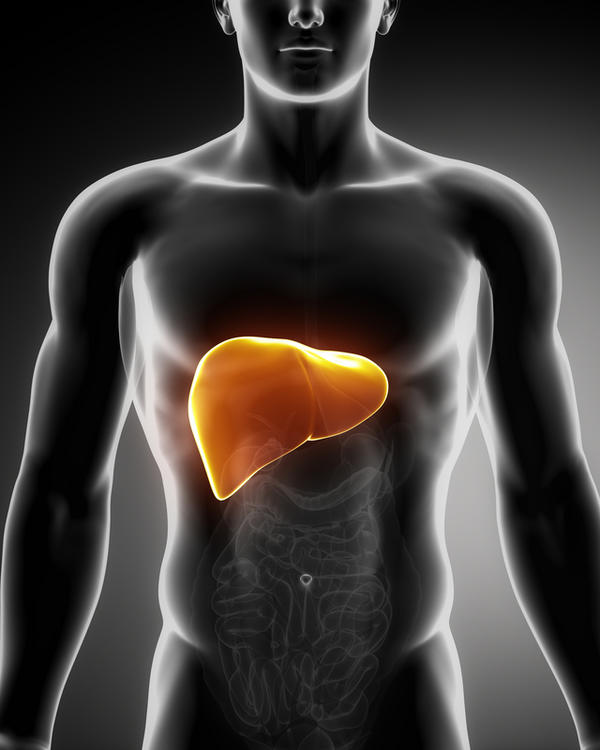 where is your liver located in your body