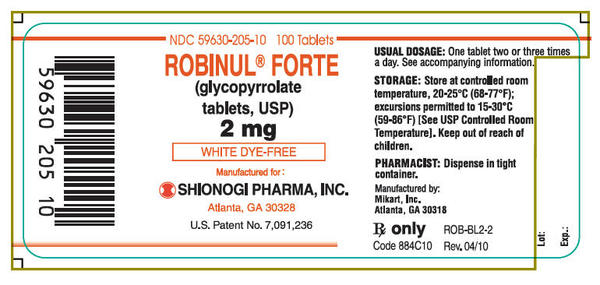 Is robinul (glycopyrrolate) effective for depression?