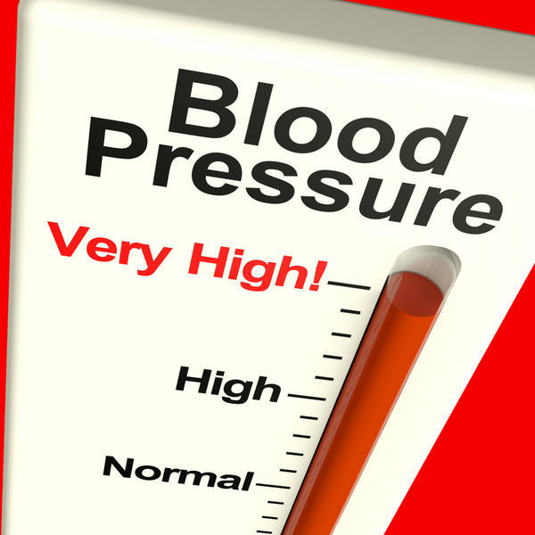 What causes a moderately high blood pressure with a low pulse rate?