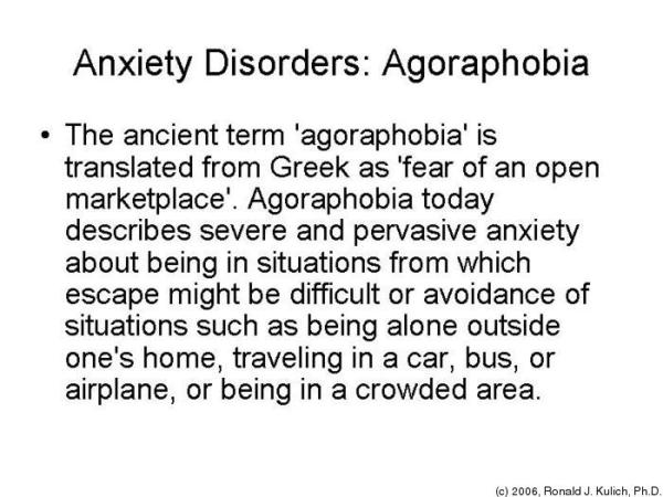 What are the causes of agoraphobia?