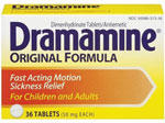 Is dramamine (dimenhydrinate) gluten free? And if yes can it be taken with midol?