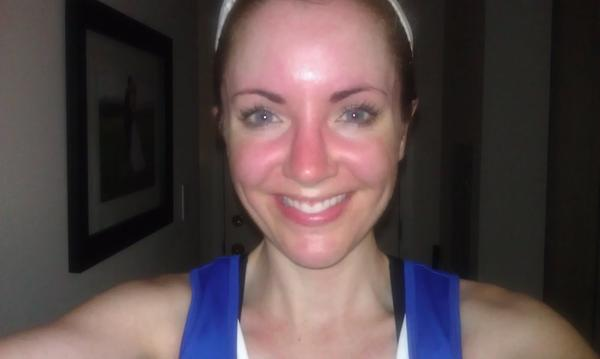 My face always gets red. When I exercise or even if a room is warm or if I laugh too hard my face turns red. Please help me, its so embarrassing.?