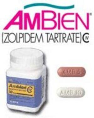 How does Ambien (zolpidem) work with or without food?