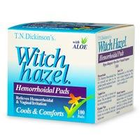 How can I use witch hazel for hemorrhoids?