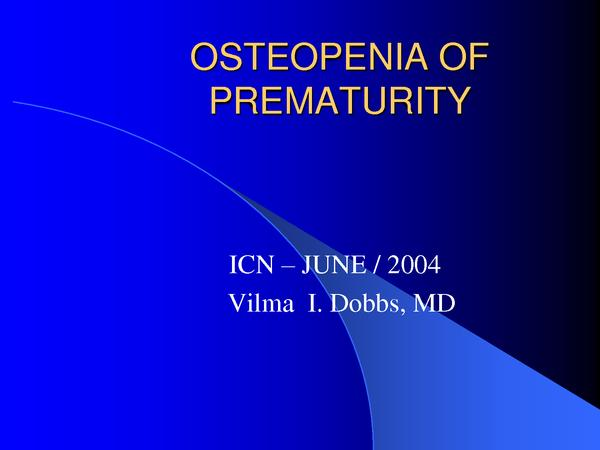 Does osteopenia cause fractures in infants?