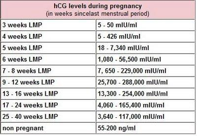 Is it possible to be 15 weeks pregnant with hCG level of less than 2?