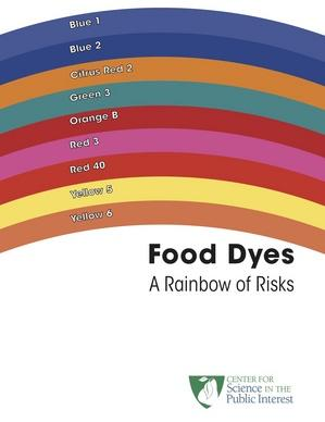 What dyes in food cause bad behavior?