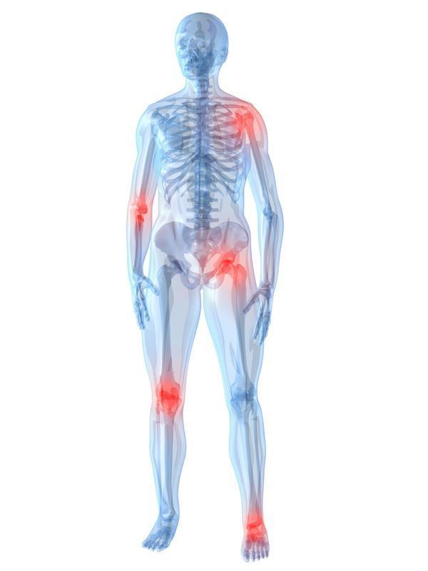 What causes severe joint pain and stiffness?