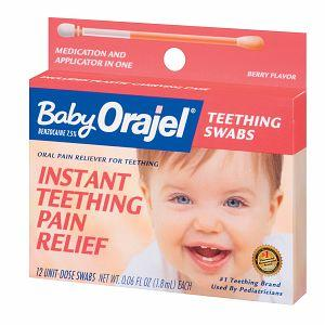 What is an alternative to orajel that I could give my teething 6 month old?