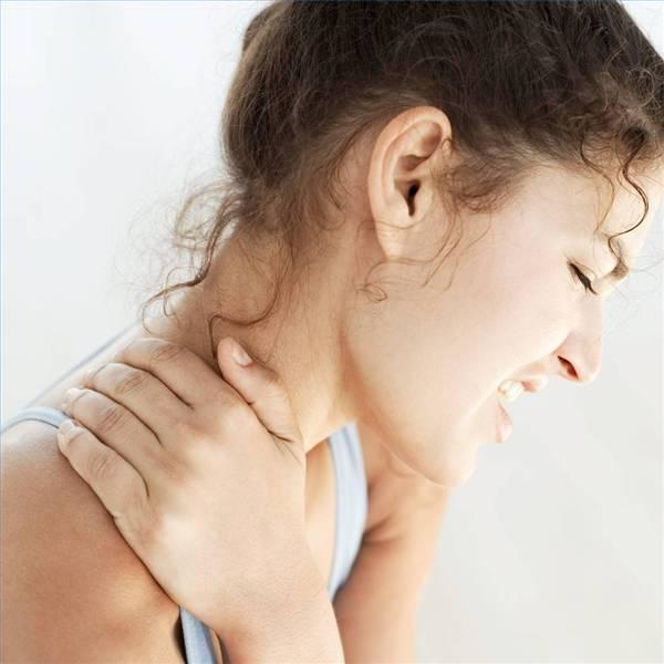 What can I do to relieve sharp pain on the left side of my neck?