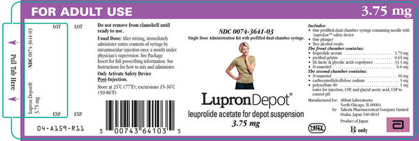 What are the medical uses of lupron (leuprolide) depot injections?