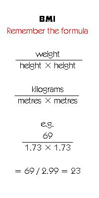 Need to know how do you figure your bmi?