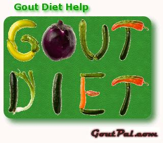 What is the recommended diet for individuals with gout?