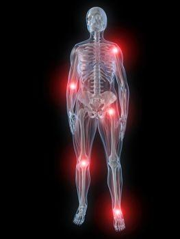 What are some side effects of joint pain pills taken with other medication?