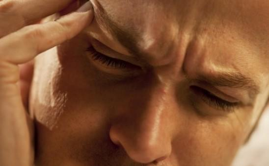 I had a very bad sudden stabbing migraine behind my left eye. I turned the light on the read the Aleve (naproxen) label and could not read it. It was blurry.?
