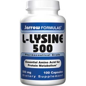 What dosage of l lysine for cold sores prevention?