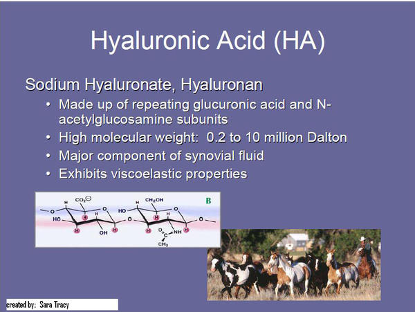 Is hyaluronic acid effective against arthritis?
