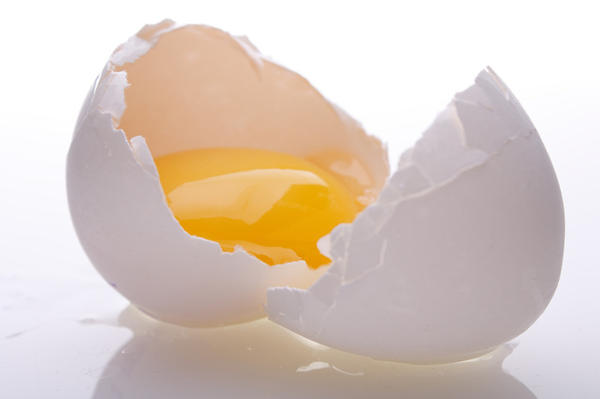 How much protein in an egg white vs yolk?