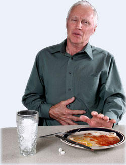 My husband been having upset stomach lately, how can I help him?
