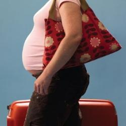 What is the definition or description of: traveling while pregnant?