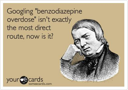 What is the definition or description of: benzodiazepine toxicity?