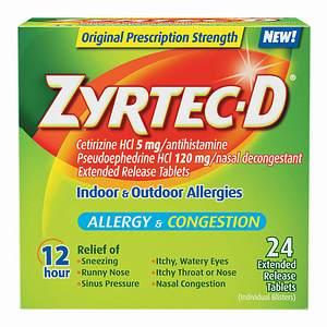 What is the definition or description of: zyrtec d?