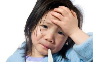 What is considered a fever for a child under 2yrs of age?