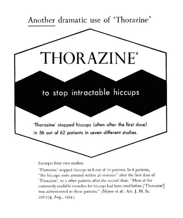 Doc is it safe to give thorazine (chlorpromazine) for persisting hiccups to heart patient?