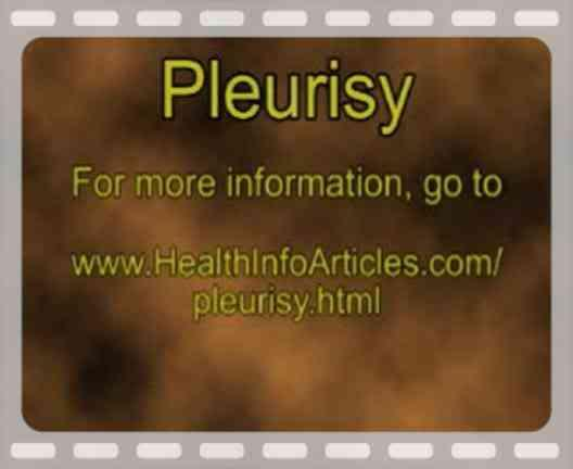 What advice can you give for someone trying to find relief from pleurisy?