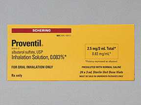 "What does the ""ne"" mean at the end of proventil (albuterol) inhaler ne?"