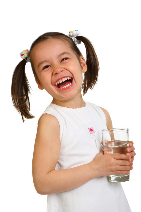 Is it ok that i put water with my daughter's mil? She won't drink water alone. She's 1.