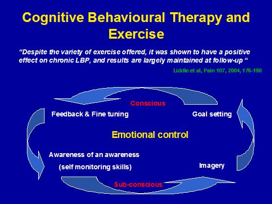 What is the definition or description of: cognitive-behavioral therapy?