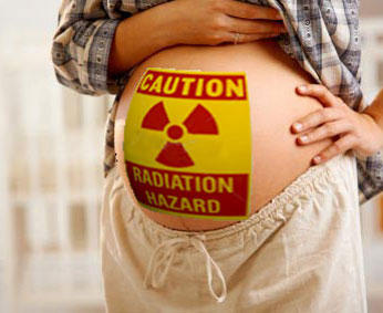 Does the duration of gestation period have anything to do with radiation related birth defects?