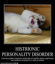 What is the definition or description of: histrionic personality disorder?