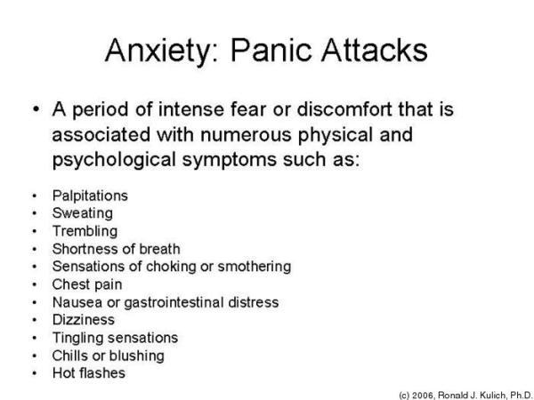 Do panic attack symtoms include dizziness head rush feeling hot flashes nervousness?