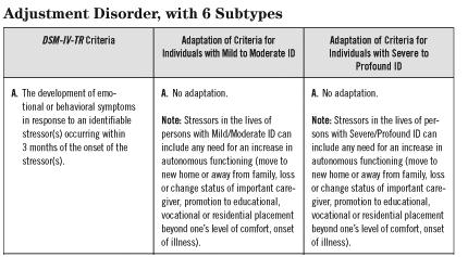 What is the definition or description of: adjustment disorder?