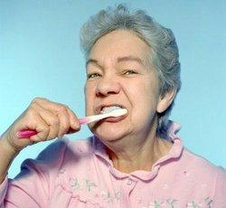 What are some really good teeth brushing tips for elderly people?
