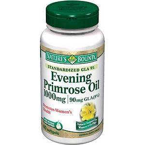 What is the side effect of taking evening primrose oil with vitamin E together?