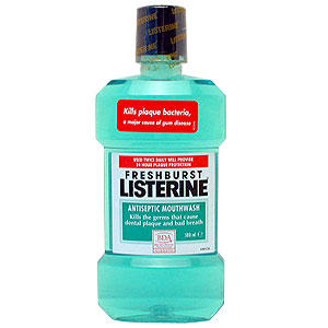 What can happen if you repeatedly swallow small amounts of listerine on accident?
