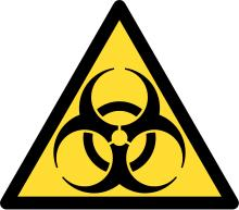 What are the first two steps in the chain of response for a biohazard spill?
