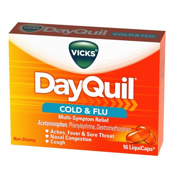 Can i take tylenol (acetaminophen) and dayquil together?