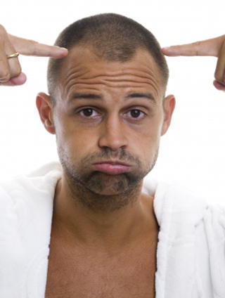 What is the right medication for bald spots forming on your head?
