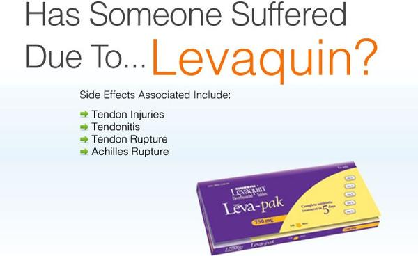 Have you heard of levaquin (levofloxacin) tendinitis?