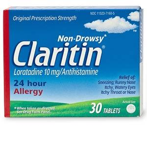 How long after I take Claritin (loratadine) should my allergy swelling go down?