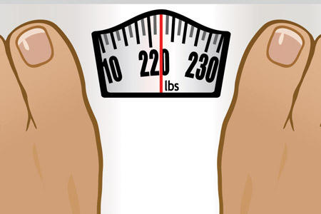 Overweight problem for disable man in his forties?