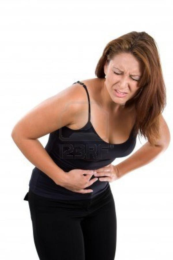 What is the cause of the pain usually associated with diarrhea?
