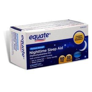 If I take 4 50 mg of equate night time sleep aid is it gonna hurt me?